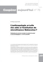 L'anthropologie a-t-elle été utile à l'institution de microfinance Mahavotse ?