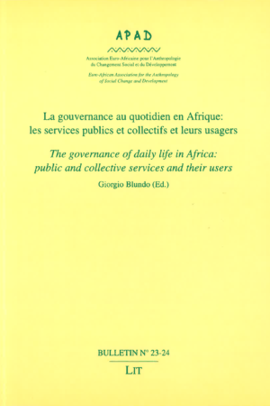 No. 23-24 La gouvernance au quotidien en Afrique / The governance of daily life in Africa : public and collective services and their users