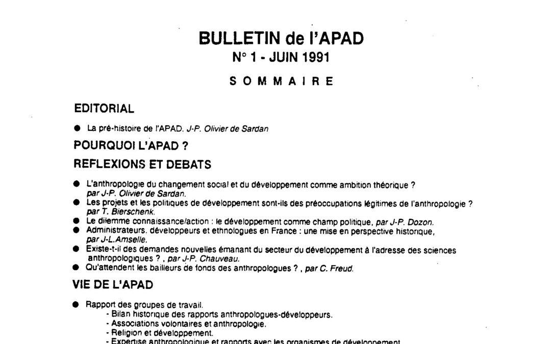 1991 – 2015 : l'APAD a 25 ans