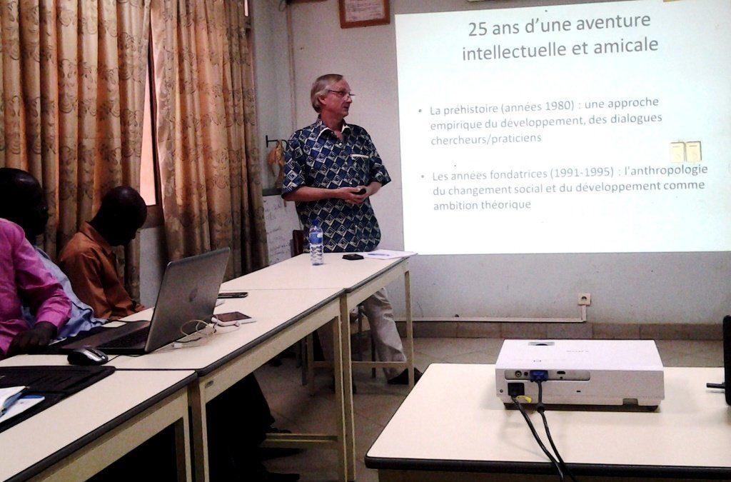 Conférence de Philippe Lavigne Delville au séminaire 3SB de l'INSS à Ouagadougou