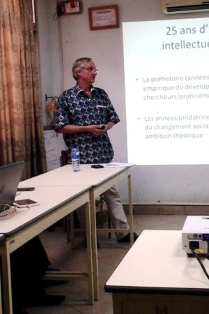 Philippe Lavigne Delville gave a conference at INSS seminar, Ouagadougou