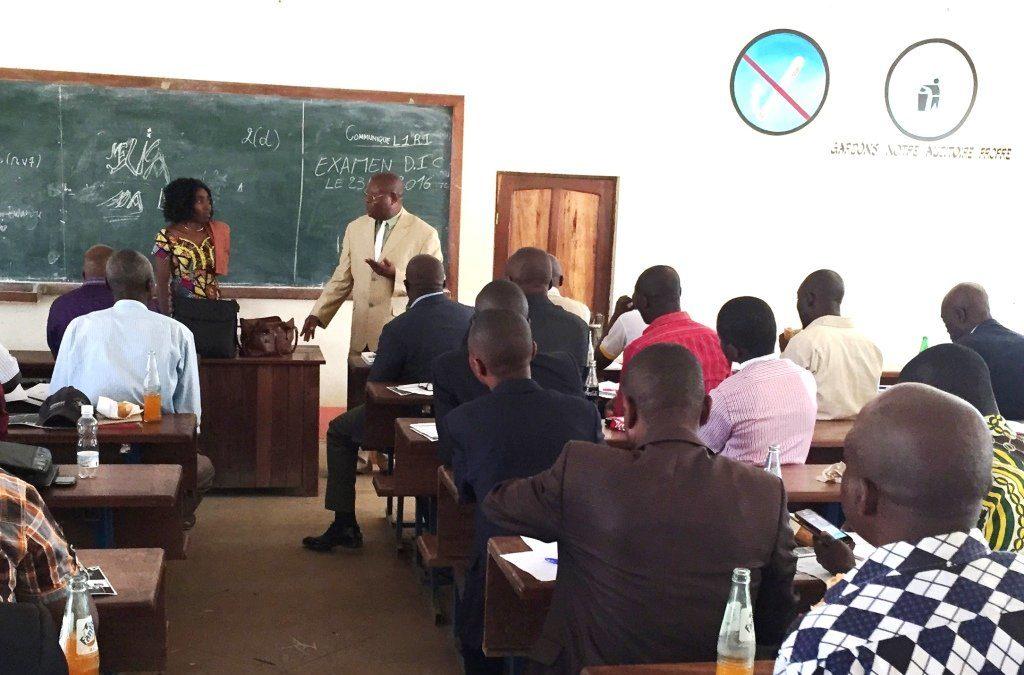 A meeting on APAD at Lubumbashi University (Congo Democratic Republic)