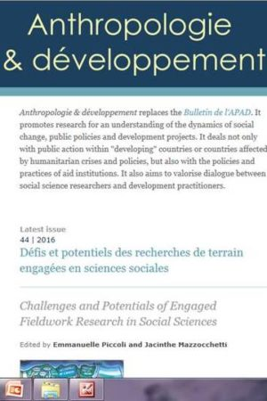 """Anthropologie & développement"" is online!"