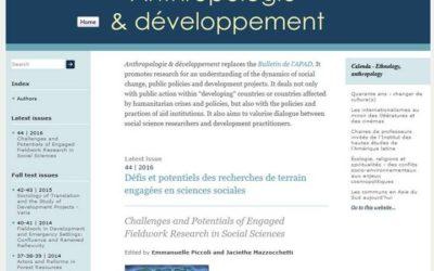 Anthropologie & développement :  une belle fréquentation sur openedition.org