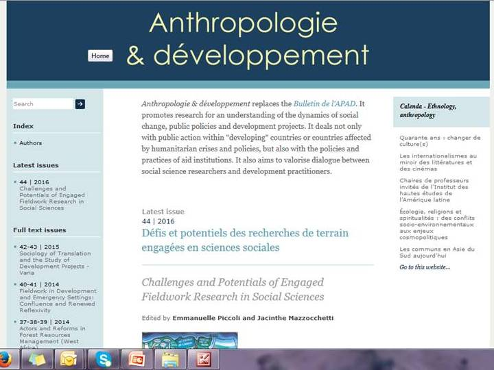 Anthropologie & développement :  nice statistics on openedition.org