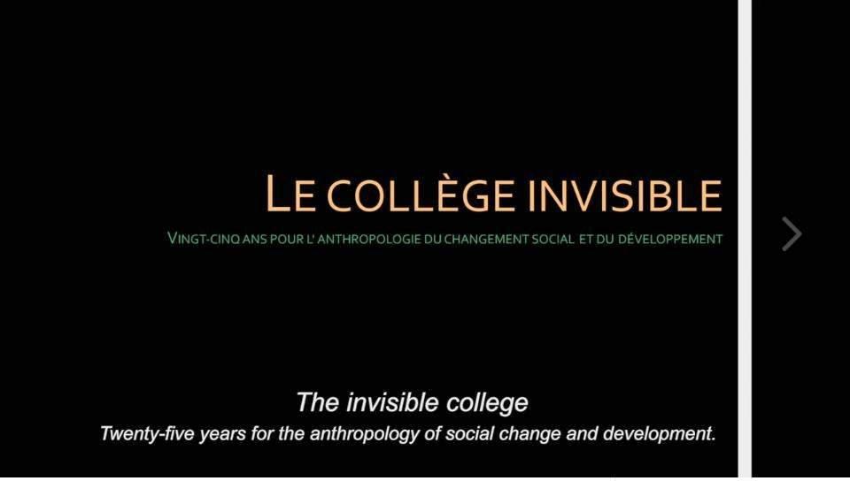 """""""Le collège invisible"""" une vidéo sur les origines de l'APAD"""