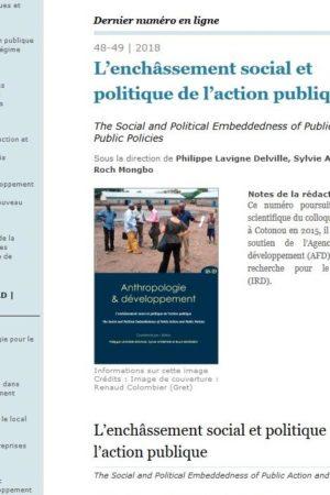 Anthropologie & développement 48-49 est en ligne